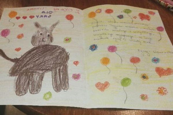 Ilustracja do wpisu: Kartka urodzinowa dla Sary